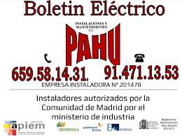 Boletines Elecectricos Madrid